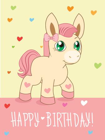 buddies: Greeting Card. Cute Girl. Cartoon Animals Vector. Lovely Horse Pony. Cartoon Animal Vector. Greeting Card. Pony Advert. Pony Art. Pony Girl. Pony Club. Pony Dance. Buddies. Beautiful Pony. Fairy Tale.