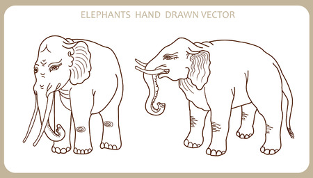 toy elephant: Elephants In Indian Style. Hand Drawn Silhouette. Vector Illustration. Elephant Tattoo. Elephant Decor. Elephant Revival. Elephant Hipster. Elephant Seal. Elephant As Toy. Elephant Plush.