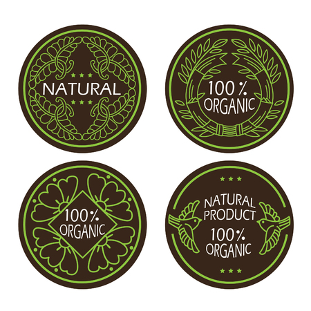 insider: Organic Natural And Eco Icons Set With Text. Natural Product. Organic Product. For Labels And Badges. Vector Logo Design Template, No Transparencies, Ideal For Prints. Natural Product Insider.