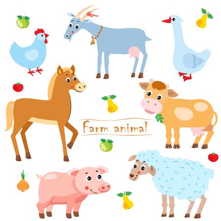 Farm Animals For Kids. Farm Animals Babies. Illustration