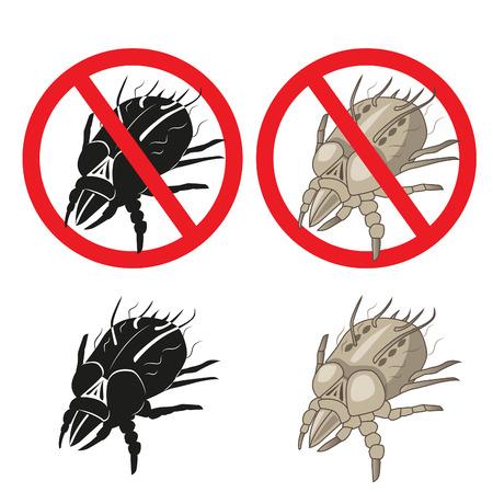 Huisstofmijt Parasite Warning Sign. Close-up van een huis Mite. Set. Huisstofmijt Pictures. Huisstofmijt Allergie Hives. Dust Mijten op de huid. Huisstofmijt Killer. Huisstofmijt Cleaner. Huisstofmijt verwijderen.