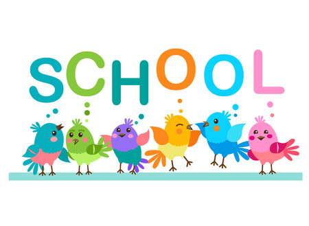 morning routine: Cute Cartoon Birds. Birds And The Word School. School Theme. Illustrations On A White Background. School First. School Supplies. School Boy Costume. School Girl Costume. Morning Routine. Illustration