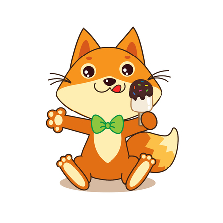 sweet tooth: Cute Funny Fox With Ice Cream. Cartoon Vector. Funny Fox Memes. Funny Foxy. Fox Pics. Funny Fox Shirt. Sweet Tooth. Ice Cream. Fox And Ice Cream. Glutton. Dodger. Baby Animals.