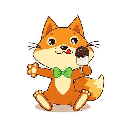 Cute Funny Fox With Ice Cream. Cartoon Vector. Funny Fox Memes. Funny Foxy. Fox Pics. Funny Fox Shirt. Sweet Tooth. Ice Cream. Fox And Ice Cream. Glutton. Dodger. Baby Animals.