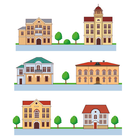 town hall: Town With Colorful Houses. Seamless Pattern. Vector Cartoon Illustration On A Green Background. Town And Country. Town Square. Town Homes For Rent. Town Homes For Sale. Town Hall. Big Town. Flat Town. Illustration