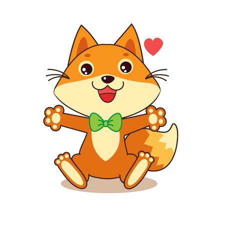 foxy: Cute Funny Fox. Cheerful Character. Cartoon Vector. Cartoon Vector Funny Fox Memes. Funny Foxy Pics. Baby Animals. Funny Fox Shirt. Fox costume. Illustration