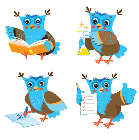 memes: Cute Owl And Learning Set On A White Background. Funny Owl Learn On A White Background. Cartoon Vector Illustrations. Owl Picture. Owl Memes. Owl Jokes. Owl Sayings. Owl Gifts. Owl Toy. Owl Sticker.