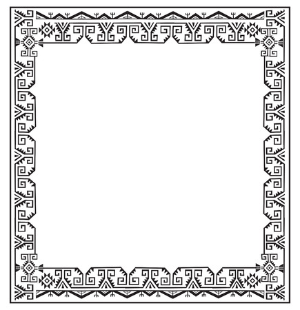 slhouette: Black And White Ethnic Frames Vector. Tribal Vector Frame. Navajo Stile Frame. Slhouette Ethnic Ornament. Frames Space For Text. For Invitations Announcements Frame. Ethnic Photo Frames. Illustration