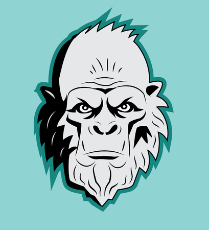 Yeti Bigfoot Head. Vector Sasquatch. Afschuwelijke Sneeuwpop. Yeti Monster. Harige Reuzen. Bigfoot Portret. Yeti As Toy. Yeti Kostuum. Bigfoot Hoofdmasker. Bigfoot Picture. Sasquatch Sticker. Stock Illustratie
