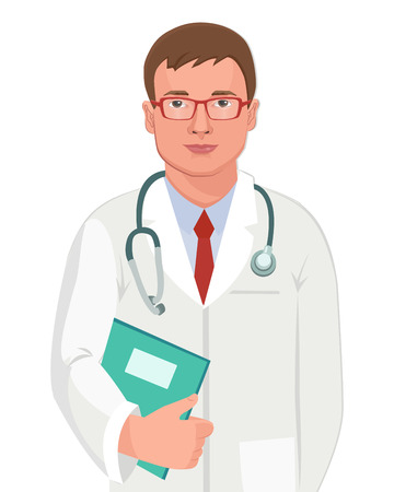 guy standing: Young Doctor With Stethoscope.