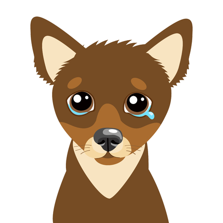 Sad Dog Face Emoticon Vector Icon. Vector Head Cute Sad Face Pet Animal. Crying Dog Emoji. When You Depressed. What Is Your Dog Saying When Making A Sad Face.