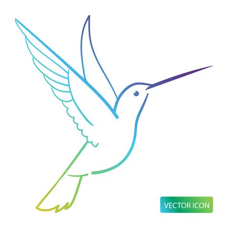 Image De Conception D'icône Colibri Sur Fond Blanc. Illustration vectorielle. Vecteurs