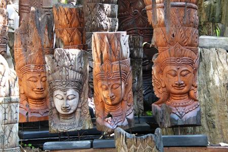 chiangmai: sculpture wood in Bannthawai ,Chiangmai