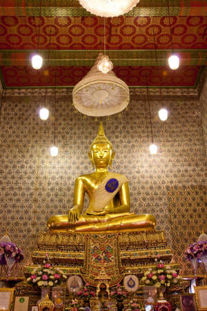 Buddha image in church of Watchalerm pra kiat, Nonthaburi, Thailand