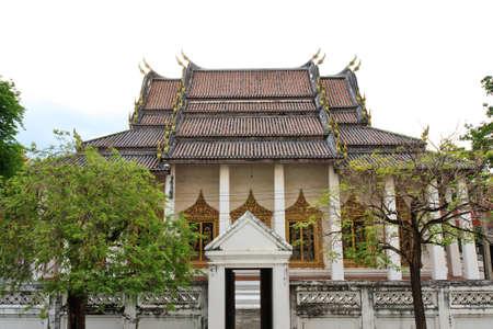 nonthaburi: Church of Thai temple of Watchalerm pra kiat, Nonthaburi, Thailand