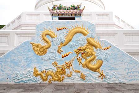 Drawing of Dragon of Watchalerm pra kiat, Nonthaburi, Thailand
