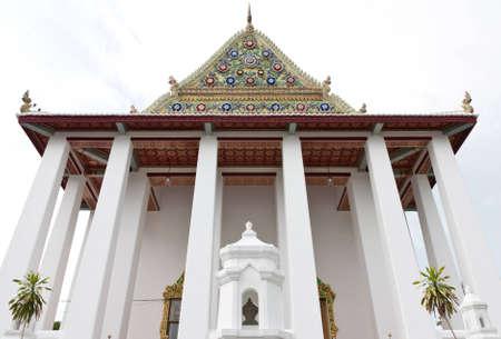 Church of Thai temple of Watchalerm pra kiat, Nonthaburi, Thailand
