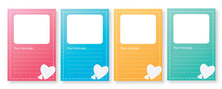 The sweet card for put text or photo  Illustration