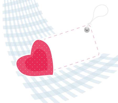 Heart card Vector