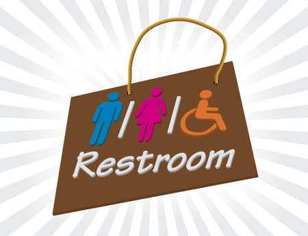 Restrooms Stock Vector - 13578387