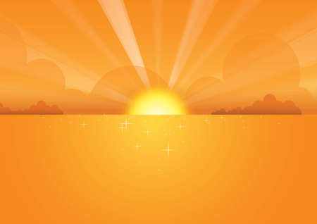 Sunset Vector Background Vector