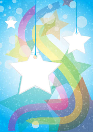 Vector illustration star tag background  Stock Vector - 13659573