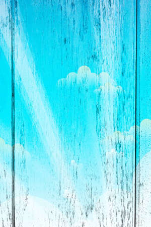 Sky and Clouds on wood background and wallpaper Stock Photo - 13816814