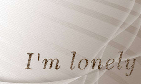 I m lonely wallpaper Stock Photo