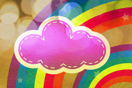 Colorful design with clouds and rainbows for background and wallpaper photo