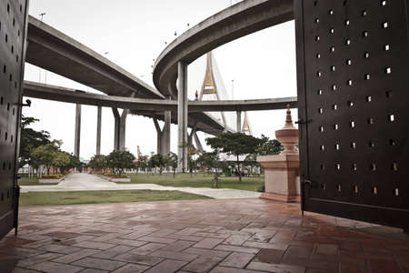 King Bhumibol Bridge in bangkok from Thailand  Stock Photo - 14264475