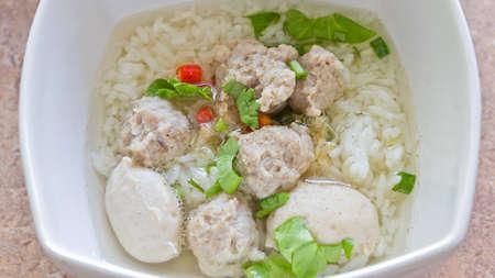 Boil rice ,Thai Food Stock Photo
