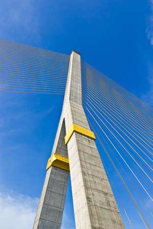 Rama VIII bridge in Bangkok from thailand photo
