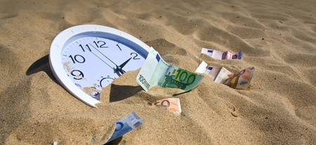 sand absorbs time and money Stock Photo - 10619358