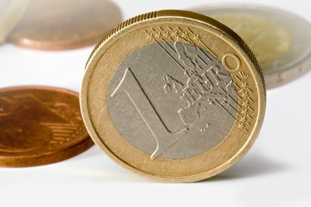 one euro coin  of other coins in background Stock Photo - 11979071
