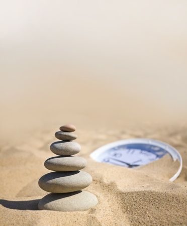 new ages: stones balanced in zen style.