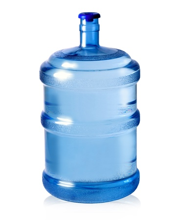 big plastic bottle for potable water isolated on a white\ background