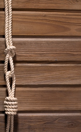 Image of old texture of wooden boards with ship rope. Stock Photo - 12458387