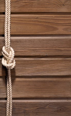 Image of old texture of wooden boards with ship rope. Stock Photo - 12458382