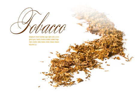 tobacco: view of a mound of pipe tobacco.