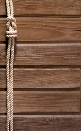 Image of old texture of wooden boards with ship rope. Stock Photo - 12769229