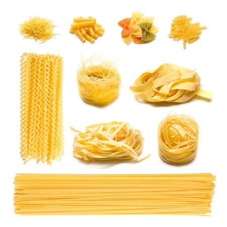 pasta isolated: Italian pasta collection Stock Photo