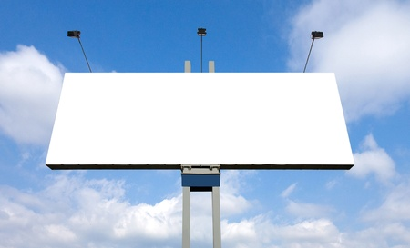 blank billboard: Huge billboard with clear space