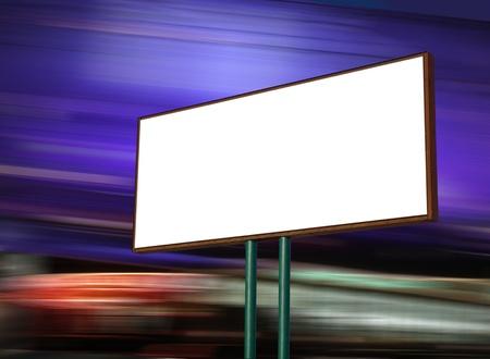 affichage publicitaire: l'affichage publicitaire blanc la nuit