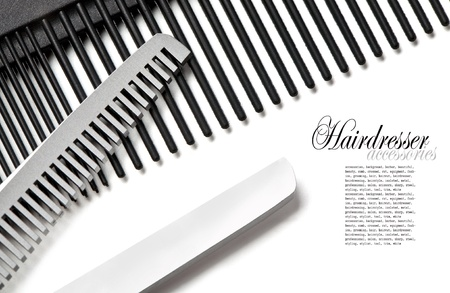 hair clippers: Scissors, Thinning shear on white background