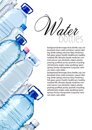 Bottles of water isolated on the white with copy spase Stock Photo - 13811220