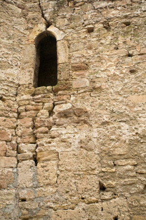 castle stone wall with a window Stock Photo - 14150853