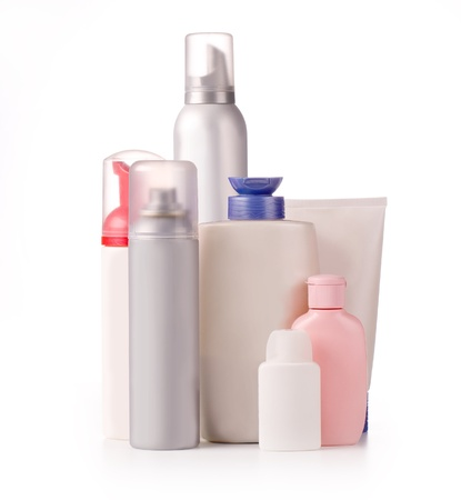 hair conditioner: bottles of health and beauty products