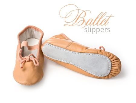 Young ballerina dancing shoes photo