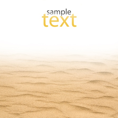 closeup of sand on a white background Stock Photo - 14259256