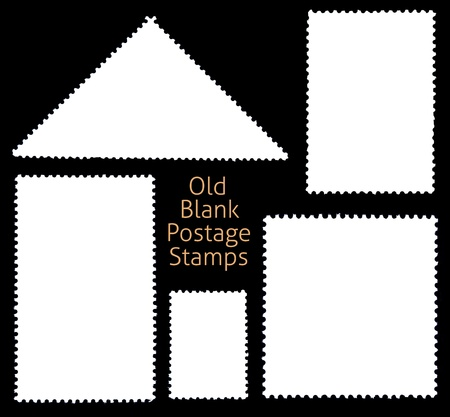 perforated stamp: Blanks Postage Stamp Framed by Black Border